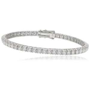 Stunning Diamond gold tennis bracelet