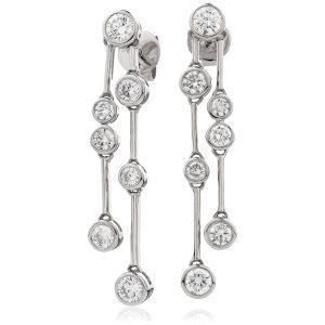 Dazzling diamond drop earrings