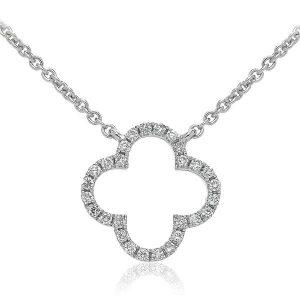 Very cute flower diamond pendant