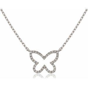 Beautiful butterfly diamond pendant