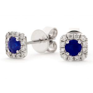 Cute diamond sapphire earrings