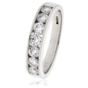 Beautiful and very pleasing channel set diamond ring