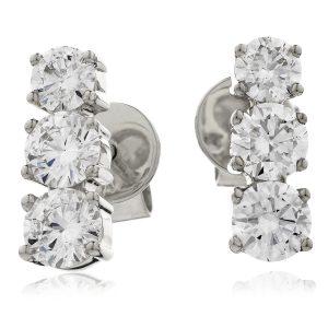 Cute diamond drop earrings