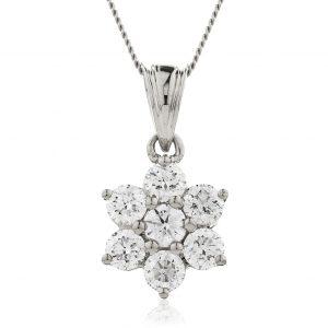 Stunning diamond flower pendant