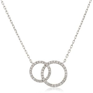 Elegant twin circle diamond pendant