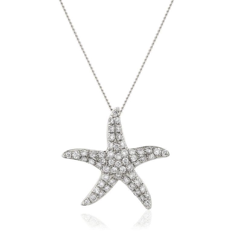 Lovely star diamond pendant