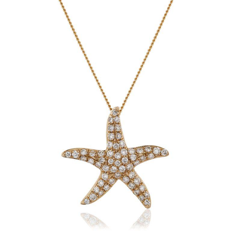 Stunning star diamond pendant