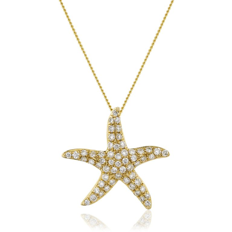 Elegant star diamond pendant
