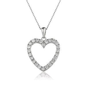 Stunning heart diamond pendant