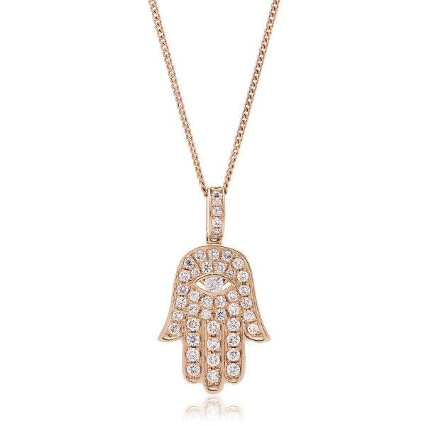 Charming Evil Eye diamond pendant