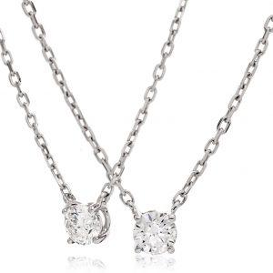 Elegant solitaire diamond pendant